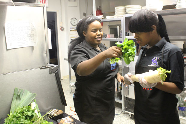 Teens learn how to prepare a 3-course meal from Chef Jennifer Gavin.