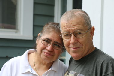 Victor Noriega (right) was nearly killed in a hit-and-run crash in early July.