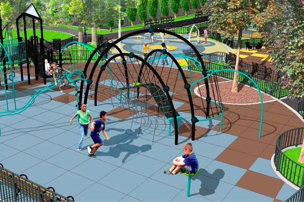 A rendering of a renovated Ennis Playground on 11th Street and Second Avenue.