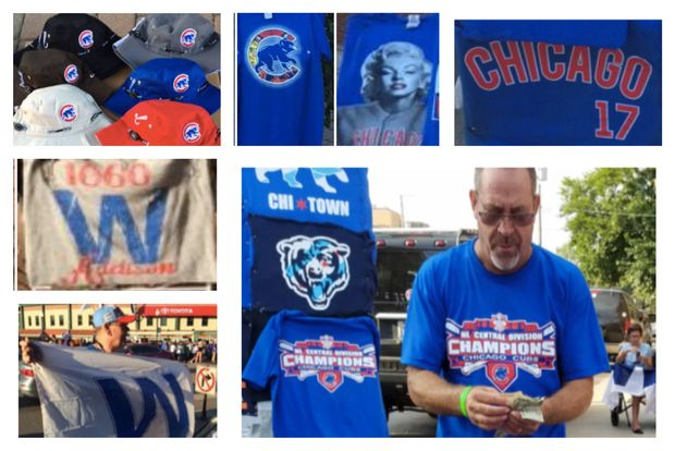 Chicago Cubs and Major League Baseball are suing vendors for trademark infringement. The club included photos of vendors and their wares that allegedly violate the team's trademark with the lawsuit.