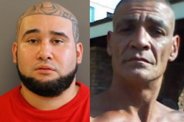 Paul Pagan (l) was charged in the murder of 54-year-old Peter Fabbri.