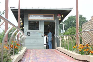 The Francisco station appears as it did when it was first built in 1907, thanks to the preservation efforts of Ravenswood Manor residents.