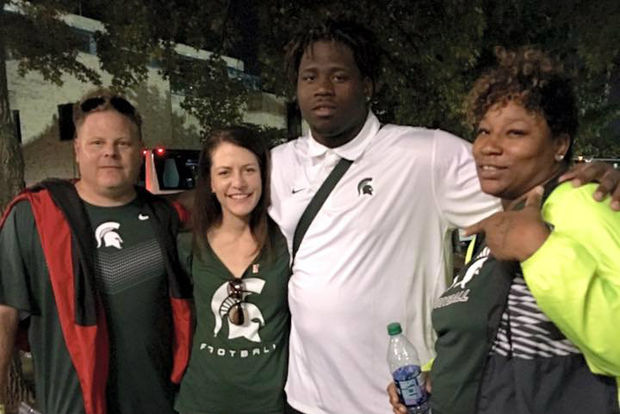 Chicago's Raequan Williams is a standout defensive lineman at Michigan State.