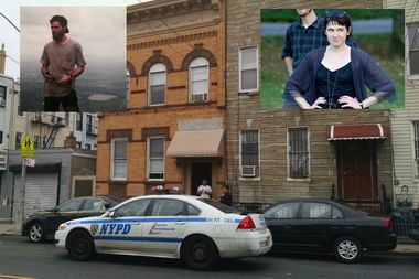 Carolyn Bush, 26, (upper right) was stabbed to death inside her Ridgewood apartment by her roommate, Render Stetson Shanahan, (upper left) Wednesday night, police said.