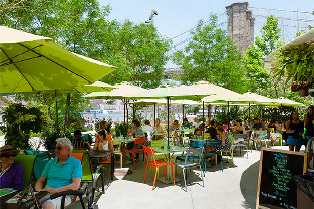 Brooklyn bridge park 39 s garden bar may close after this for Garden school pool jackson heights