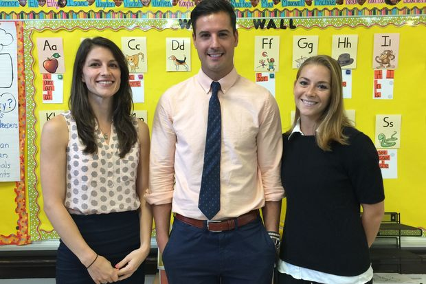 Laura Willeford, a third grade teacher, who worked on the program's design with husband-and-wife team,  third grade teacher Matt Weeks and first grade teacher Alexis Hernandez.