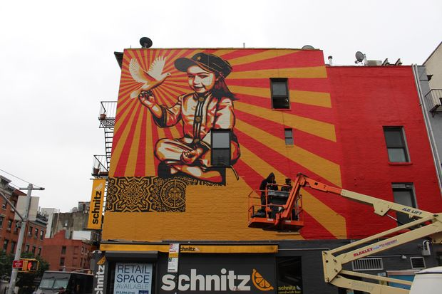 Shepard Fairey S East Village Mural Depicts His Daughter
