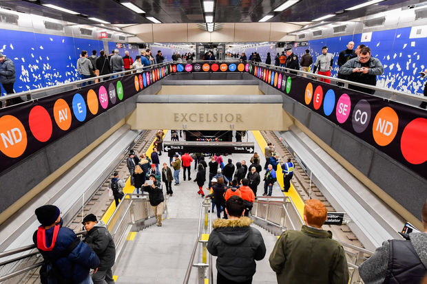 The long-awaited subway line debuted to the public on New Year's Day.