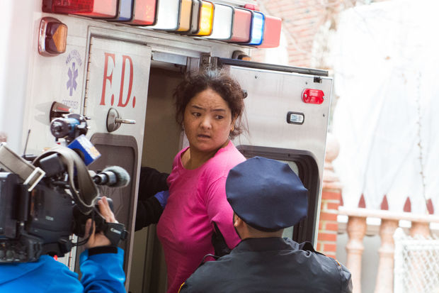 ShangboXiangshengjie was taken from the 110th Precinct to Elmhurst Hospital for a psychiatric evaluation after confessing to killing her 1-year-old daughter on Jan. 4, 2016, police said.