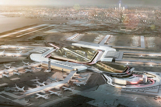 A rendering of the new JFK Airport.