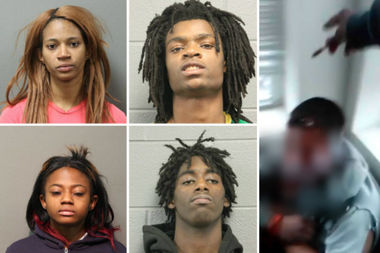 Jordan Hall, 18; Tesfaye Cooper, 18; Brittany Covington, 28; and Tanishia Covington, 24 — have been charged with hate crime, aggravated kidnapping, aggravated unlawful restraint, aggravated battery with a deadly weapon, robbery, possessing a stolen car and residential burglary.