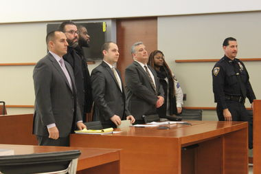 Correction Officers Moises Simancas, Tyrone Wint and April Jackson were sentenced to five years probation on Thursday for covering up the beating of an inmate after Superstorm Sandy.