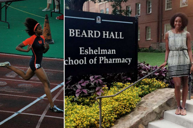 Former Whitney Young state champion runner Raena Rhone is now at North Carolina's highly ranked pharmacy school.