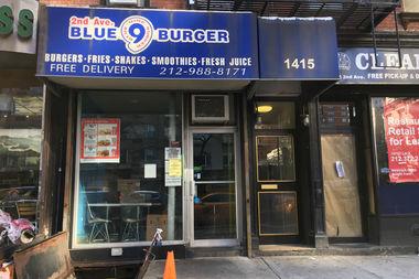 Blue 9 Burger was still closed as of Friday.