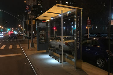 Lights Are Back On At City S First Solar Ed Bus Stop