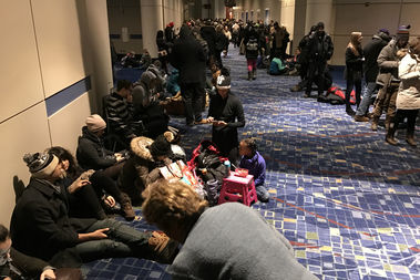 Massive crowds line up to grab tickets to President Obama's Farewell speech