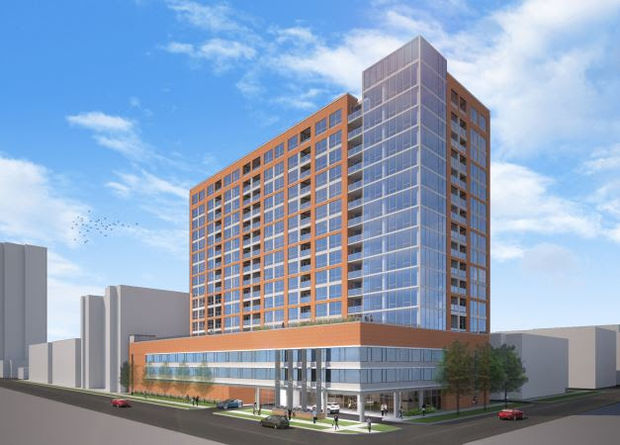 The newest rendering for a proposal at 5440 N. Sheridan Road.