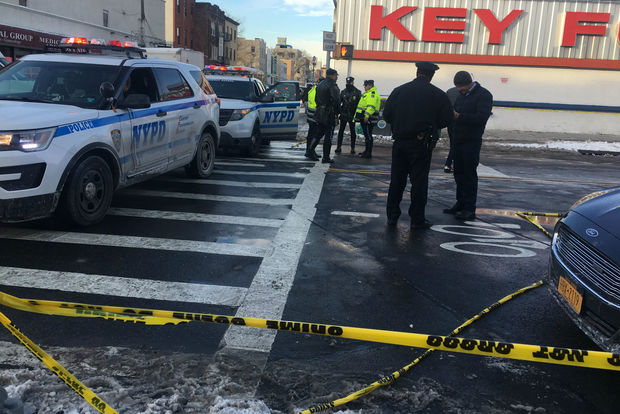 An elderly man was fatally struck by a white box truck that fled the scene Monday afternoon, NYPD officials said.