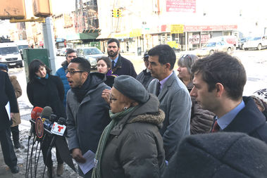 On Tuesday morning, Politicians and residents rallied near the spot where Rafael Nieves was killed.