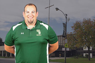 Adam Guerra comes from Los Angeles, where he coached Catholic high school football for seven years.