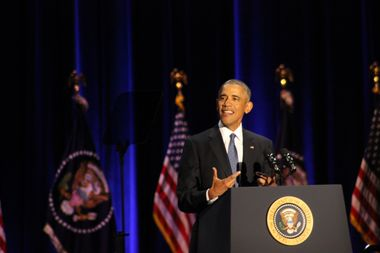 President Barack Obama during his farewell speech in Chicago