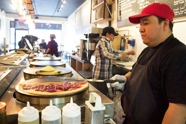 Bonjour Crepes & Wine  is now serving up its sweet and savory stuffed pancakes at 34-10 30th Ave., the third location for the business.