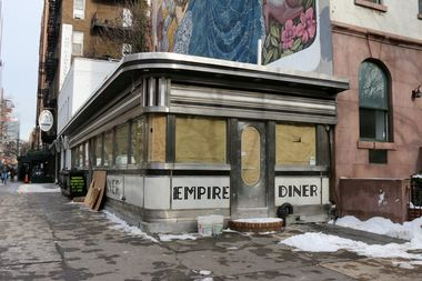 The Empire Diner at 210 10th Ave., at the corner of West 22nd Street.