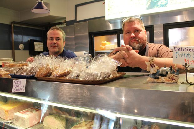 Greg Dix and Todd Thielmann have purchased Swanson's Beverly Ritz Catering and Deli. The pair first met at Sutherland Elementary School in Beverly. Later, they reunited as their wives are Irish cousins.