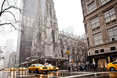 The Archdiocese of New York sought approval to mortgage land across the street from St. Patrick's Cathedral to help fund a program for victims of sexual abuse.