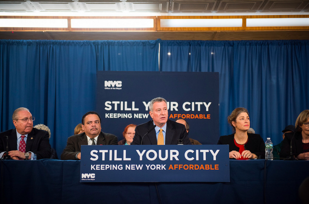 Mayor Bill de Blasio said his plan to build or preserve 200,000 units of affordable housing resulted in  21,963 units being built or preserved in 2016, the most in a single year since 1989.