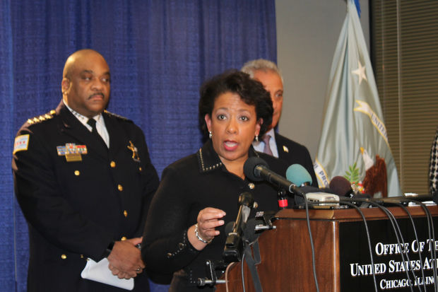 U.S. Attorney General Loretta Lynch talks about the Justice Department's yearlong probe of the Chicago Police Dept.