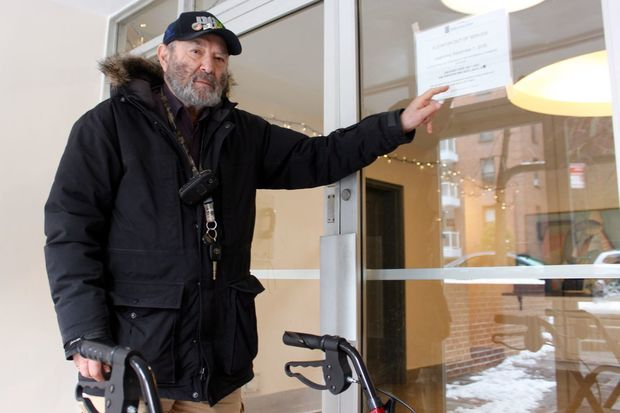 Ronald Peters has moved to a Holiday Inn near the Veteran Hospital in Brooklyn in early December.
