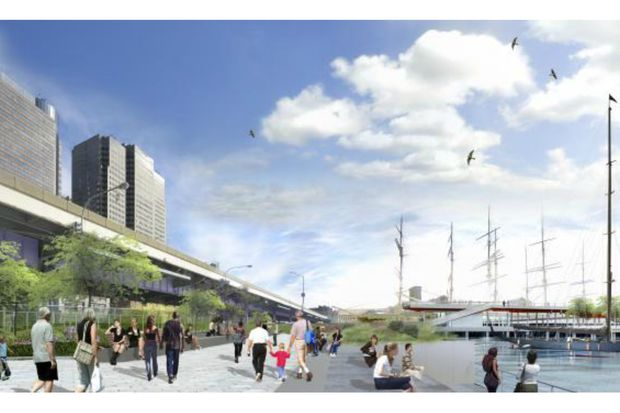 Construction On East River Esplanade In The Les To Begin