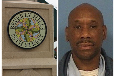Alden Jackson, 52, of Washington Heights was arrested at 11:51 p.m. Sunday in the 9500 block of south Hamilton Avenue in Beverly, according to the Chicago Police Department.