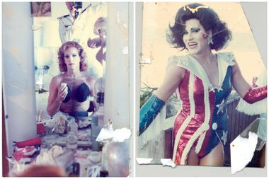 The show features these images of Drag performers from the Fire Island Hollywood Shore Leave Parties, provided by the LGBT Center.