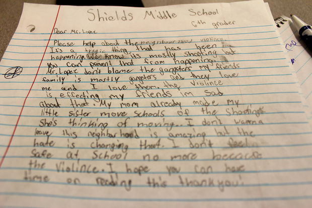 'I Don't Feel Safe At School No More,' Sixth-Graders Write Ald. Lopez – DNAinfo Chicago