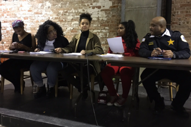 Chicago Police Supt. Eddie Johnson attended a meeting hosted by Youth for Black Lives.