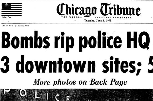 The bombings were front page news in the summer of 1976.