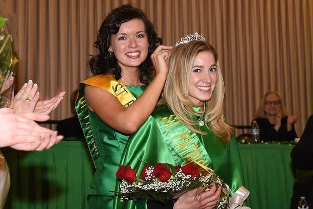 Maura Connors (right) was crowned queen of the 2017 Chicago St. Patrick's Day Parade Jan. 15. Connors is a graduate of St. Barnabas Elementary School in Beverly.