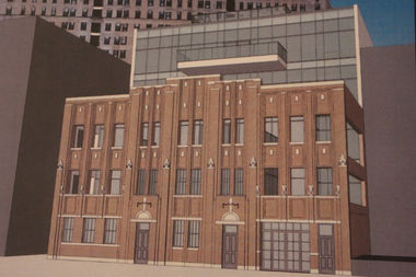 A new five-story building at 2036 N. Clark St. will preserve this facade at 2035 N. Orleans St.