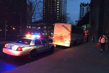 The New York City sheriff seized two buses operated by YEP Tour Inc.