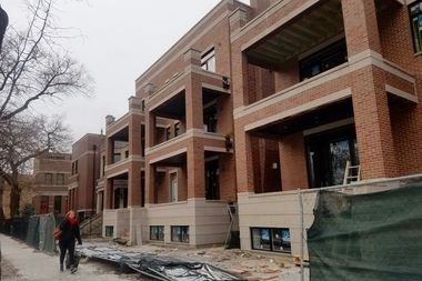 New homes underway at 2024-2018 West Le Moyne Street in Wicker Park.