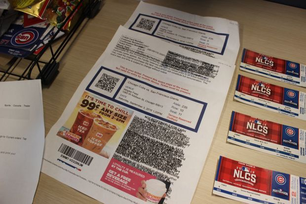 The Chicago Cubs will phase out print-at-home tickets at Wrigley Field over the next year, citing the flagrant use of counterfeit tickets during the postseason and World Series.
