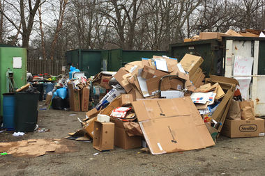 The North Park Village recycling station has been overwhelmed on weekends due to staffing issues.