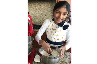 Avani Shah, 9, said she developed her love for cooking making pancakes with her dad. Now she's vying for a six-figure prize on network television.