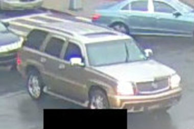 The driver of a gold Cadillac Escalade threatened to shoot a man at Brooklyn and Lefferts avenues, police said.