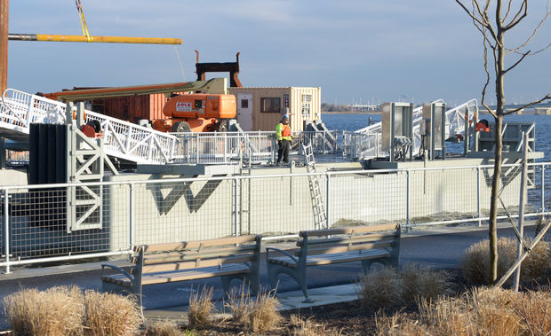The new ferry dock in Rockaway Park will be installed over the next few months.