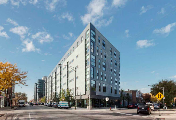 The development, 2211 N. Milwaukee Ave., was built last year.