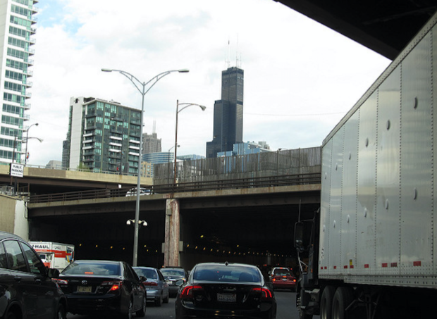 Three interchanges in Chicago have been cited as some of the worst bottlenecks in the nation.
