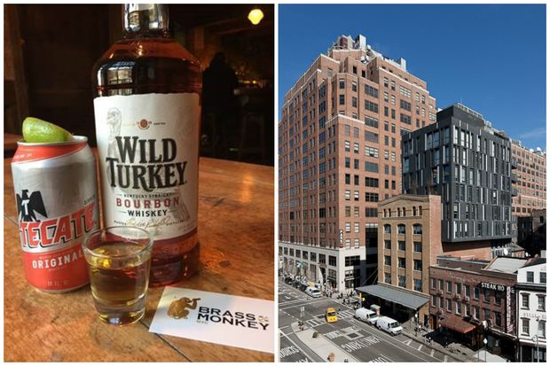 When patrons purchase a shot of Wild Turkey and a Tecate at Brass Monkey in the Meatpacking District, $1 will be donated to the ACLU.